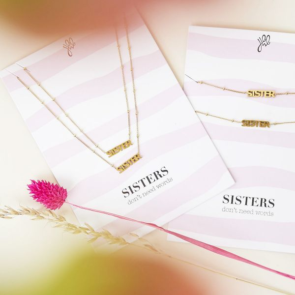 Necklace sisters don't need words