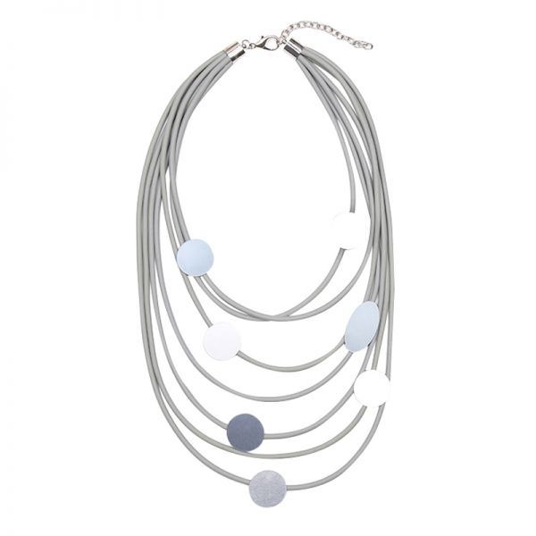 Necklace Artistic Oval and Circles