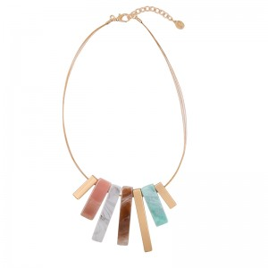 Necklace Marble & Gold