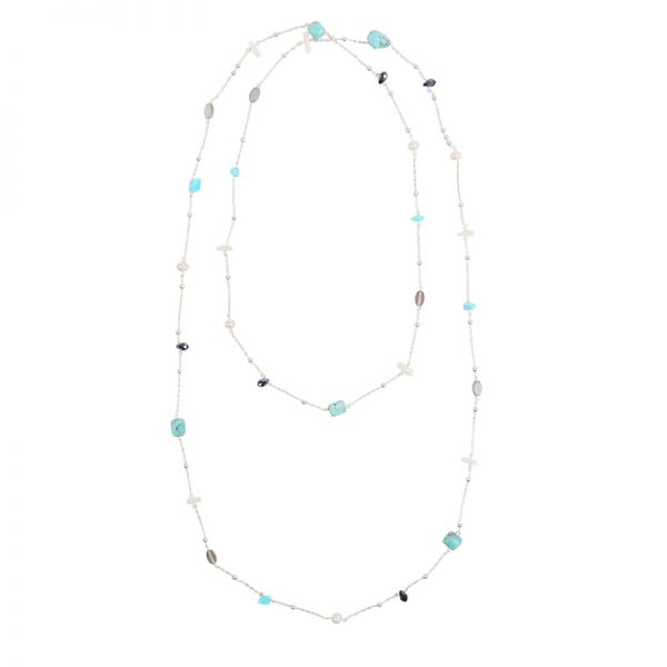 Necklace Turquoise Waves