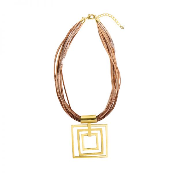 Collier Artistic Big Squares