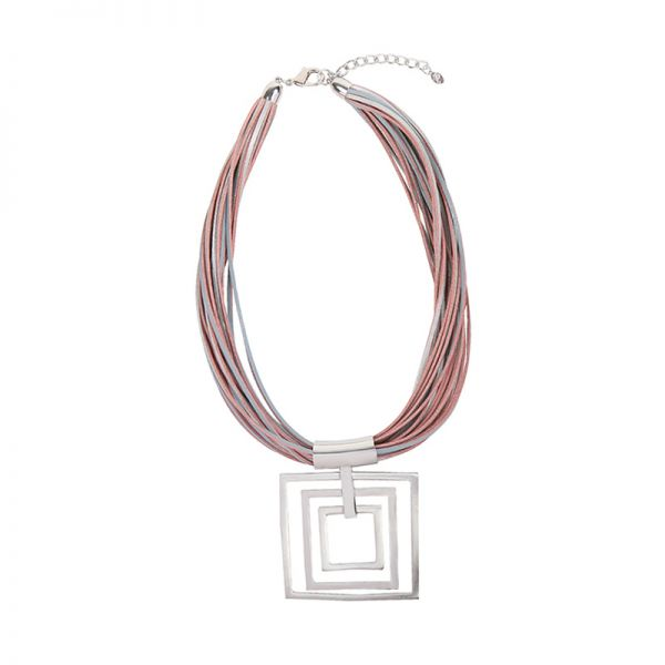 Necklace Artistic Big Squares