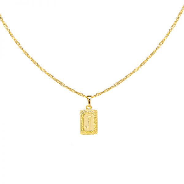 Ketting antique initial j