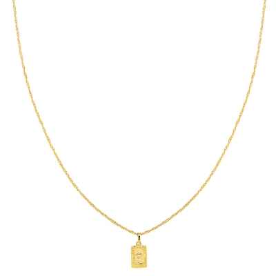Ketting Antique Initial Q