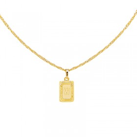 Collier Antique Initial W