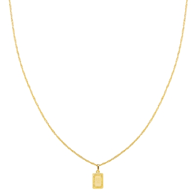 Ketting Antique Initial W