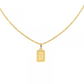 Collier Antique Initial Y