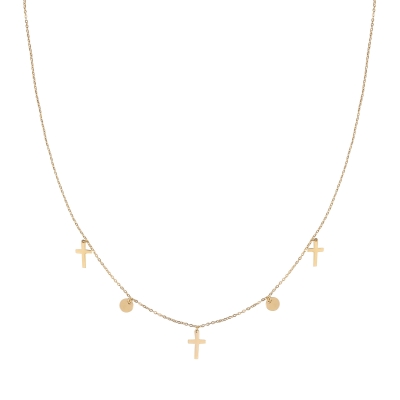 Necklace Cross & Coin