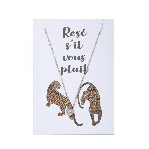 Necklace Postcard Rosé s'il voud plait