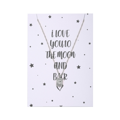 Necklace Postcard To The Moon And Back