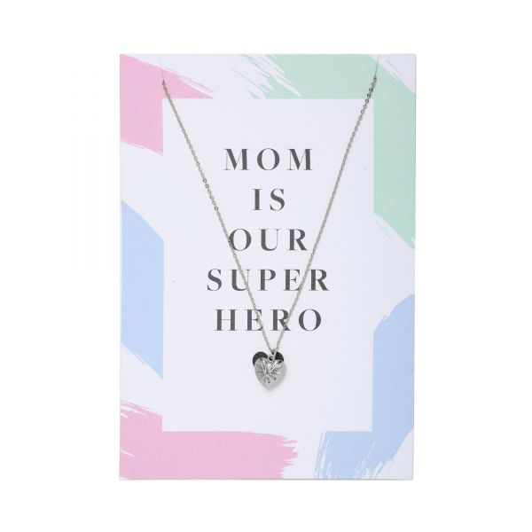 Necklace Postcard Mom Superhero
