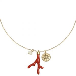 Necklace Red Coral