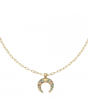 Necklace Zirconia Lucky