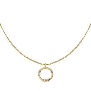 Necklace Zirconia Circle