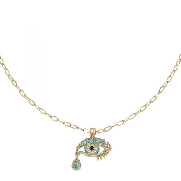 Necklace Zirconia Blue Tears
