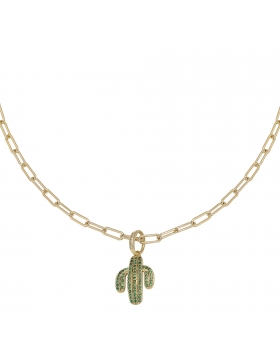 Necklace Zirconia Cactus