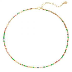 Necklace Round with Color
