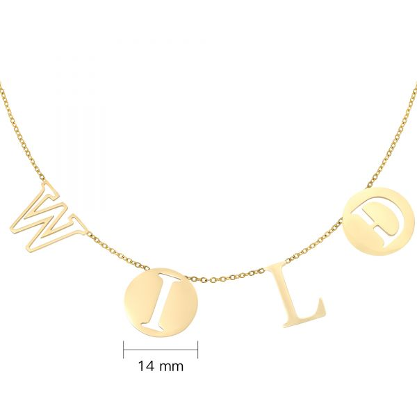 Necklace letters wild
