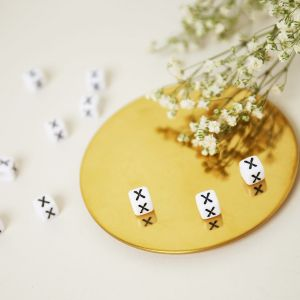 Perles diy letter x - 6mm