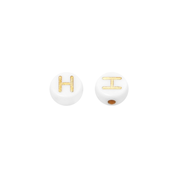 DIY Flat Beads Letter H - 7MM