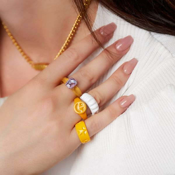 Candy ring smiley gezicht