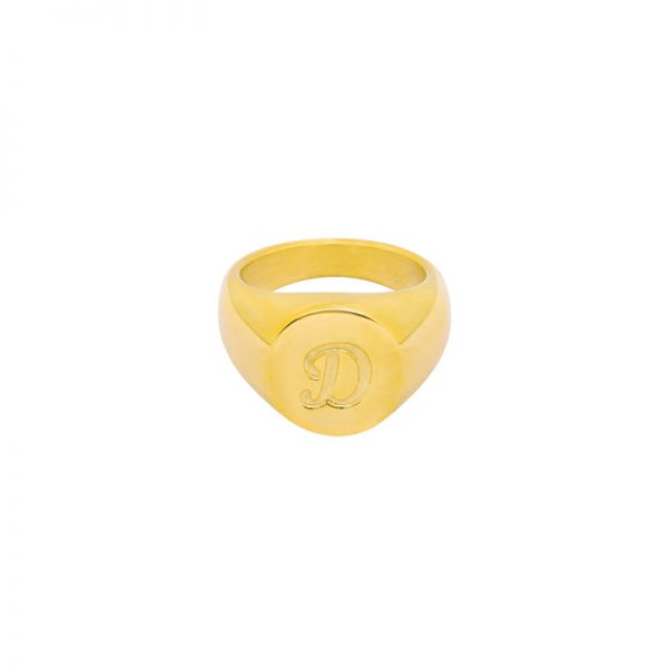 Ring Initial D Signet Ring #16