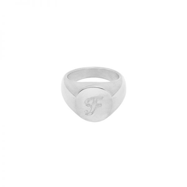 Ring Initial F Signet Ring #17