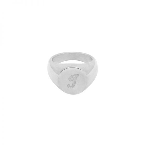 Ring Initial I Signet Ring #17