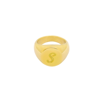 Ring Initial S Signet Ring #17