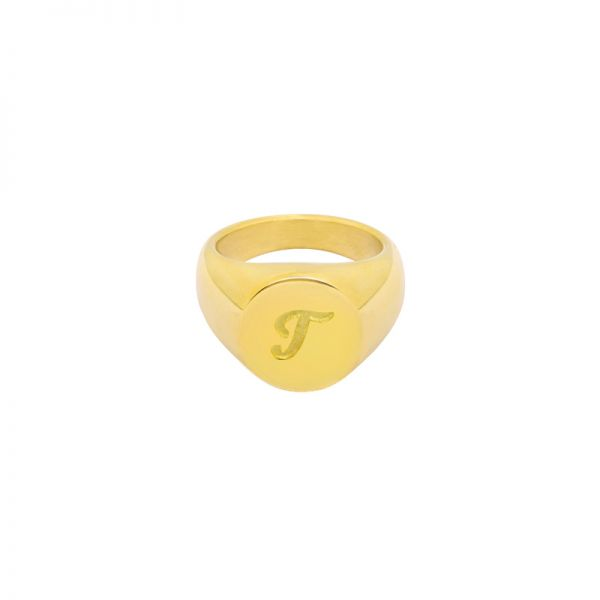 Ring Initial T Signet Ring #16