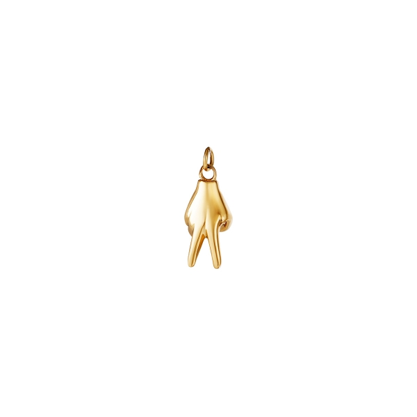 Stainless Steel Charm Hand Peace