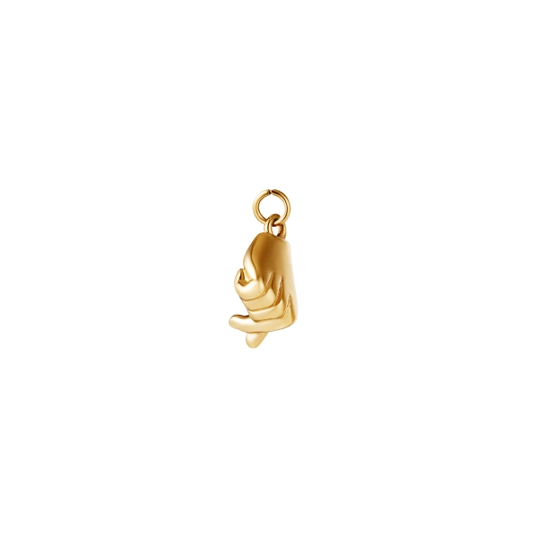 Stainless Steel Charm Hand Shaped