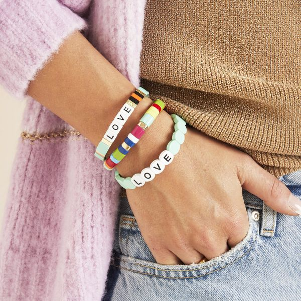 Bracelet colourful love round