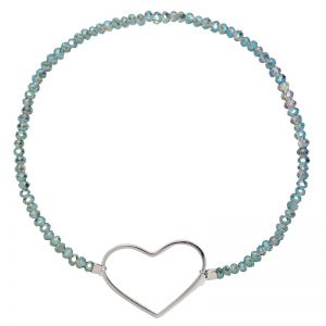 Bracelet Crystal Beads Heart