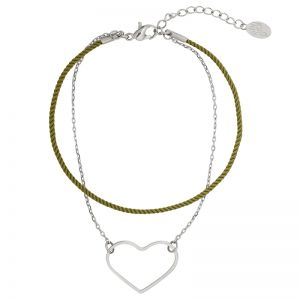 Bracelet Heart on a String
