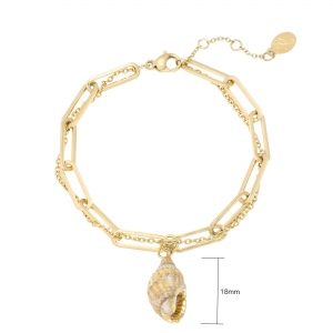 Bracelet Thick and Thin - Seashell