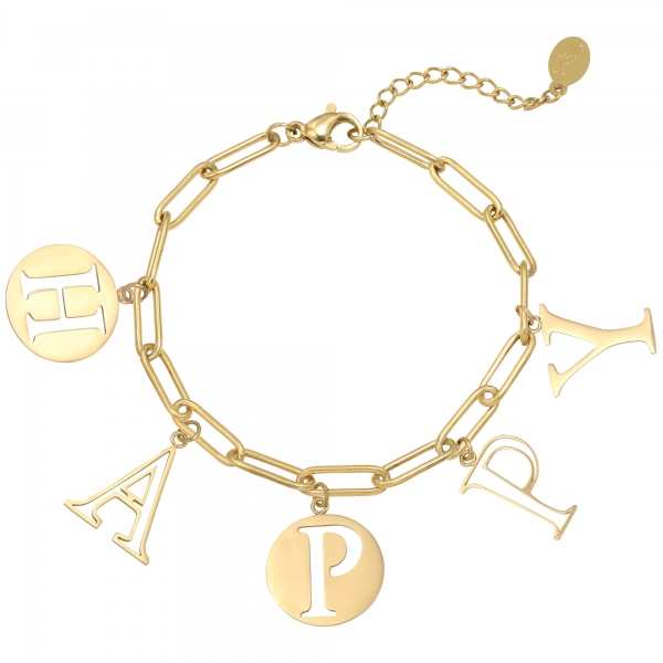 Pulsera letters happy