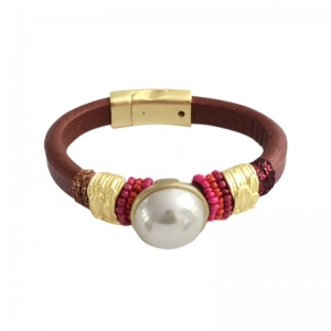Bracelet Pearl -brown-