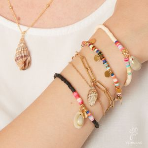 Pulsera thick and thin - seashell