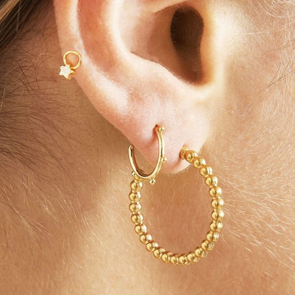 Earrings trendy tiny points