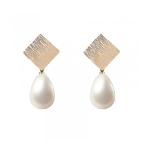 Earrings Square Pearl