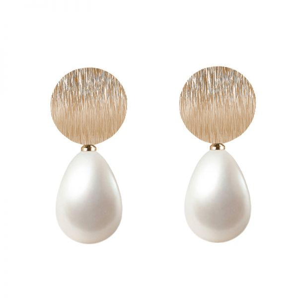 Earrings Powdered Pearl