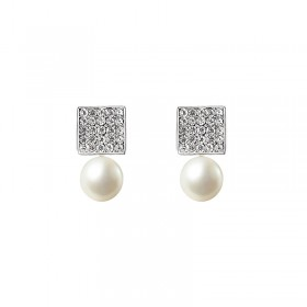 Earrings Small Diamond Pearl