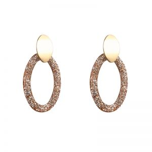 Earrings oval shimmer
