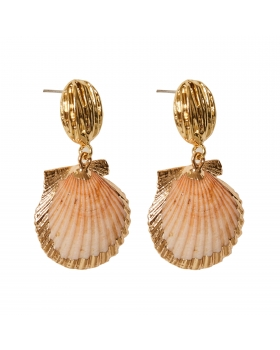 Earrings Two shells together