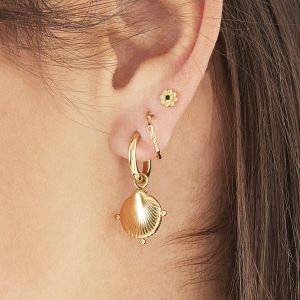 Pendientes clam shell