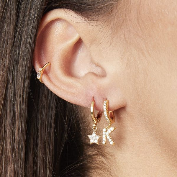 Earrings Letter K