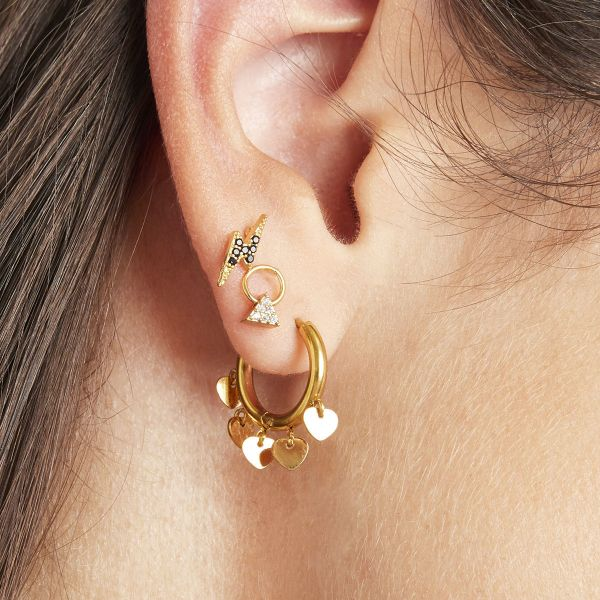Boucles d'oreilles tiny triangle