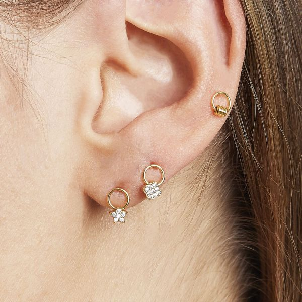 Earrings Tiny Clover