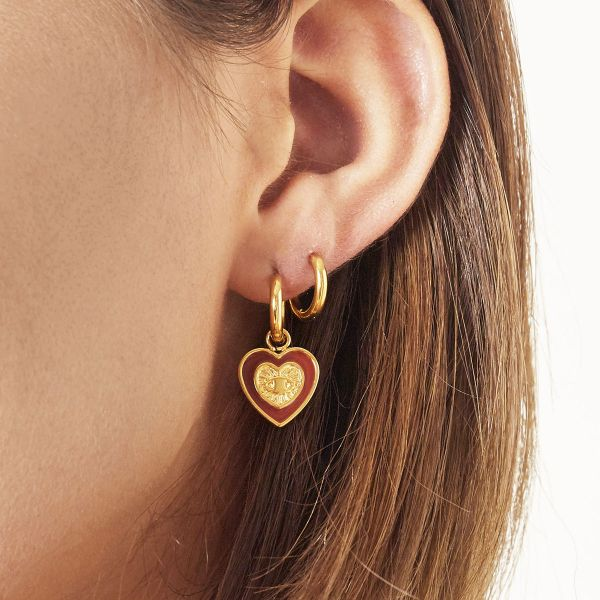 Pendientes hearted eye